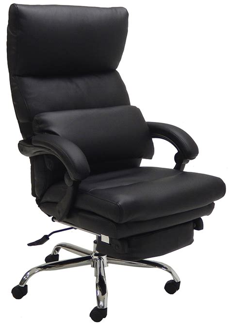 leather office recliner pillow top leather office recliner w footrest