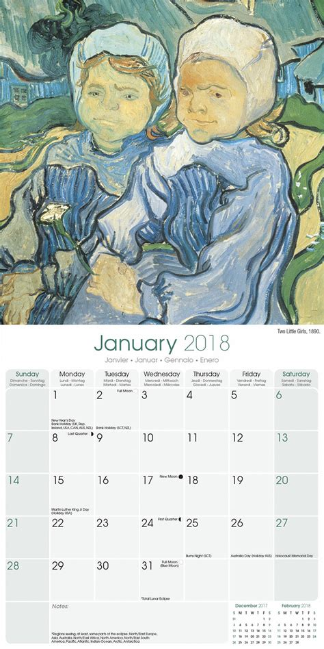 2018 daily diary gogh the starry january 2018 december 2018 lined one page per day journal books gogh calendar 2018 30213 18 architecture