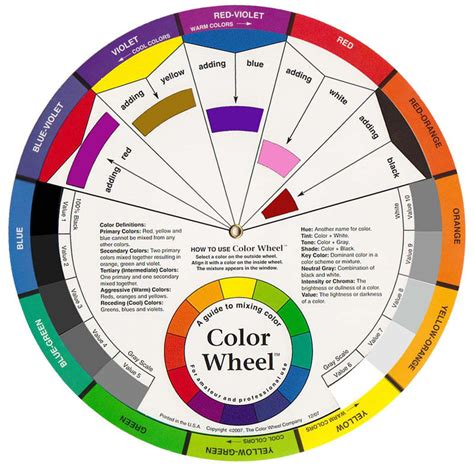 colour wheel artist paint mixing guide large ebay