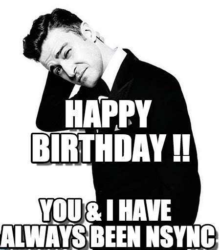 Justin Timberlake Birthday Meme - happy birthday justin timberlake meme on memegen