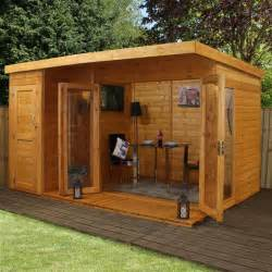 mercia garden room summerhouse with side shed 12ft x 8ft