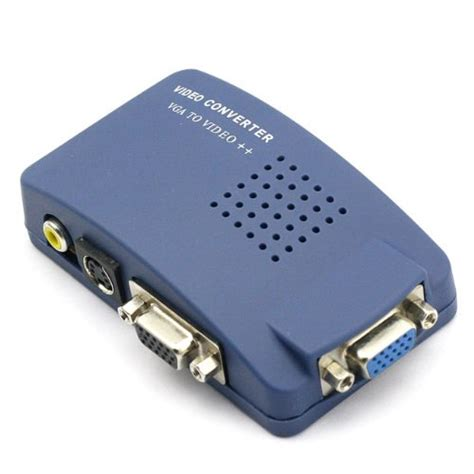 Vga To Rca monoprice vga to rca adapter pc to tv converter blue desertcart