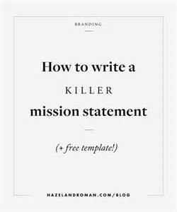 25 best ideas about mission statements on