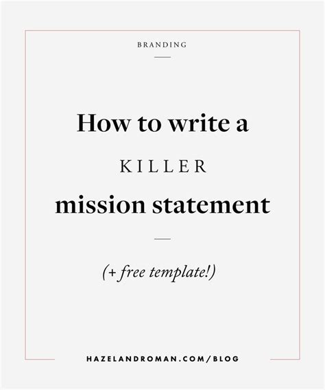 mission statement template 25 best ideas about business mission statement on