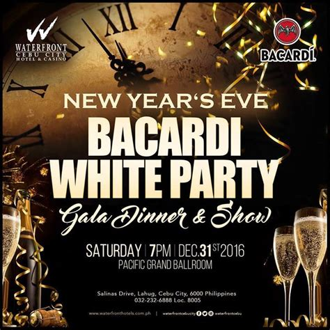 new year dinner bc new years bacardi white gala dinner show at