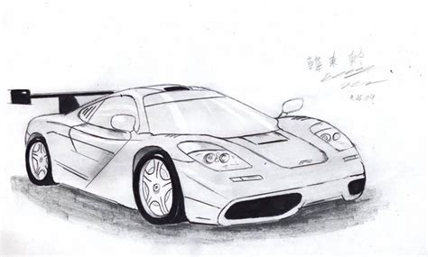 mclaren f1 drawing mclaren f1 gtr by toyonda on deviantart