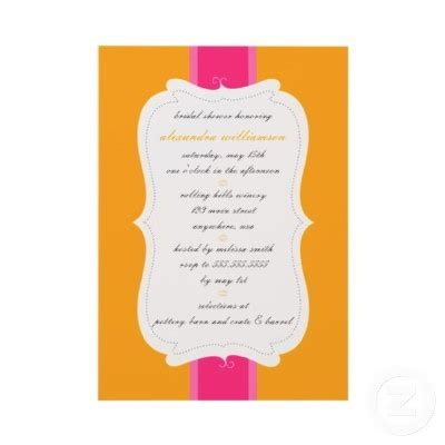 posh invitation template 17 best images about orange theme invites on