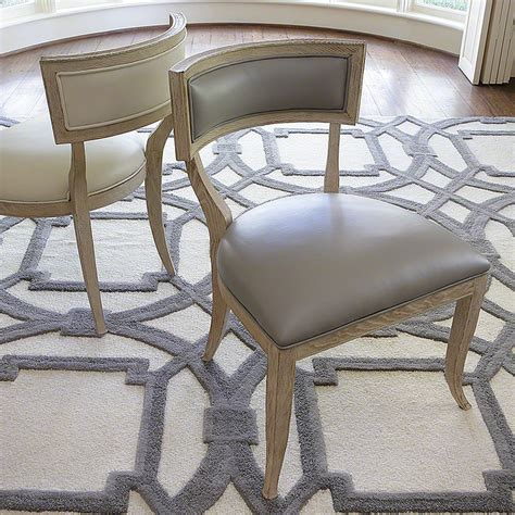 Dining Table With Grey Leather Chairs Oak Sandblasted Grey Leather Dining Chair The Designer