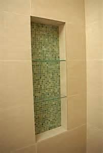 Kitchen Nook Designs Glass Mosiac Shower Niche Modern Bathroom San