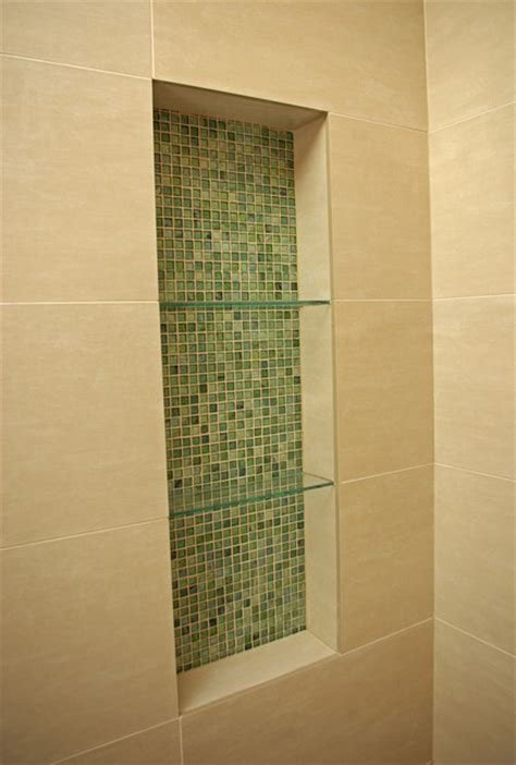 Modern Bathroom Niche Glass Mosiac Shower Niche Modern Bathroom San