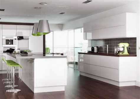 high gloss white cabinets high gloss white handleless replacement kitchen doors and
