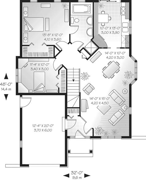 European House Floor Plans by Liverpool English Cottage Home Plan 032d 0137 House