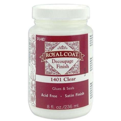 Decoupage Finish - plaid royal coat clear satin decoupage finish 236ml