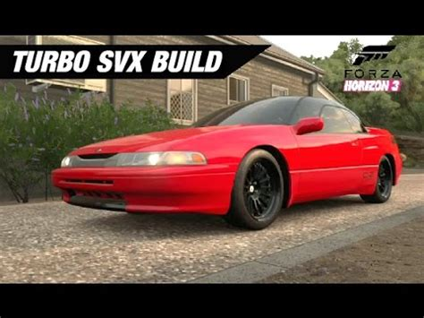 subaru svx twin turbo twin turbo subaru svx build forza horizon 3 youtube