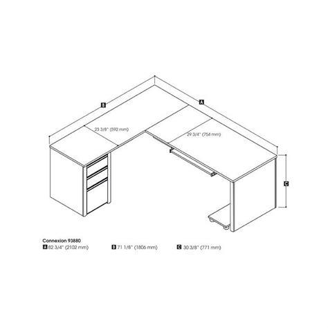 bestar connexion l shaped desk bestar connexion l shaped desk in sandstone 93880 59