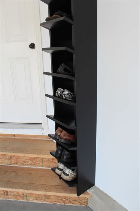 Garage Shoe Racks by Our Home From Scratch