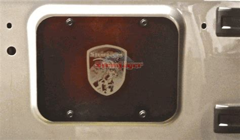 Jeep Jk Spare Tire Delete J0040922 Steinjager Spare Tire Delete Plate Jeep Wrangler