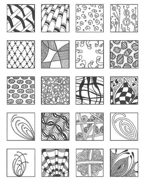 doodle fill free zentangle patterns for beginners images artsy