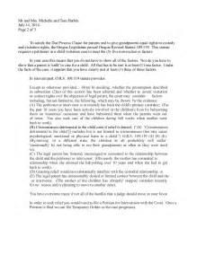 letter writing sle for grandparent custody possession