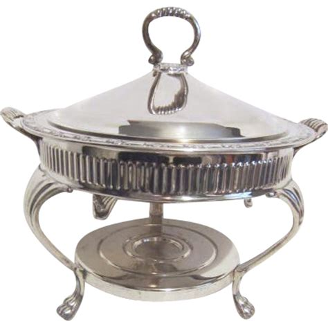 Oneida Silver Plated Covered Buffet Server With Warmer Silver Buffet Server