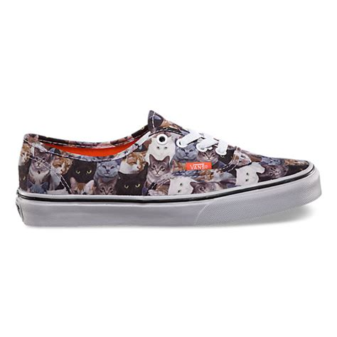 sneakers with cats on them aspca authentic shop womens shoes at vans
