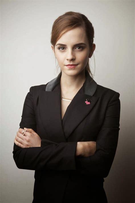 emma watson in suit emma watson wears a black pant suit for the world economic