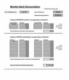 Bank Reconciliation Template Xls by Bank Reconciliation Spreadsheet Microsoft Excel