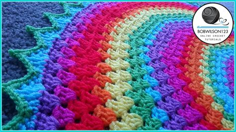 how to crochet a circle rug crochet rug blanket cal part 1 of 7