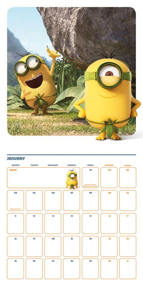 minion desk calendar 2018 minions calendarios 2018