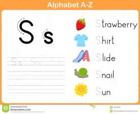 alphabet tracing worksheet stock vector image 44029462
