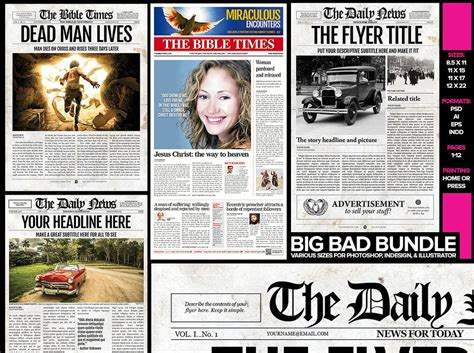 create your own newspaper template 5 newspaper templates bundle newspaper designers
