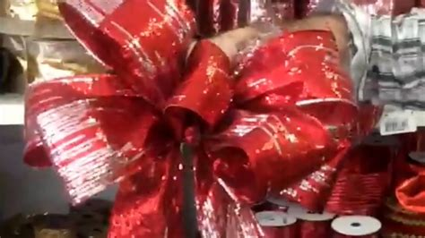 youtube how to make a silver xmas bow how to make a bow by the heeney company