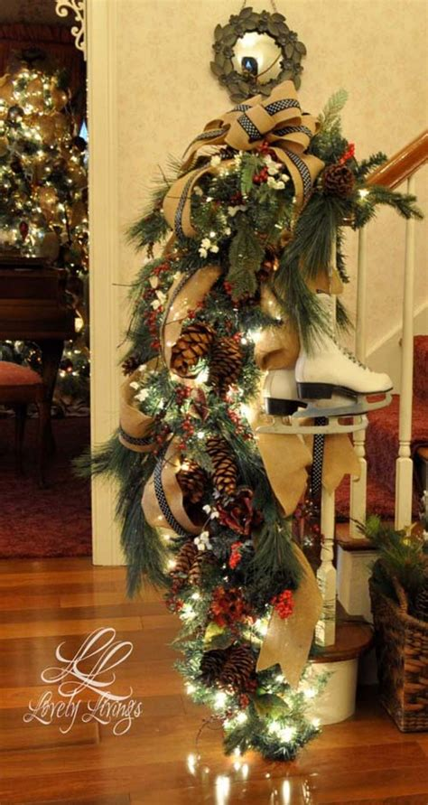 christmas banister decorations 40 festive christmas banister decorations ideas all about christmas