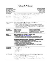 current college student resume template popular college curriculum vitae sle