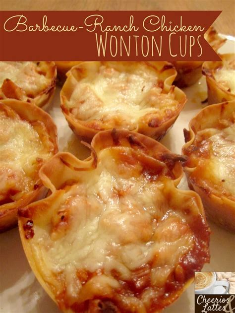 kid friendly bbq appetizers barbecue ranch chicken wonton cups a kid friendly recipe
