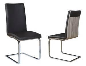 chaise sejour lathi 56 chene gris fonce