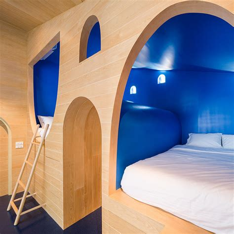 bed built into wall whimsical beds have been built into this kids bedroom