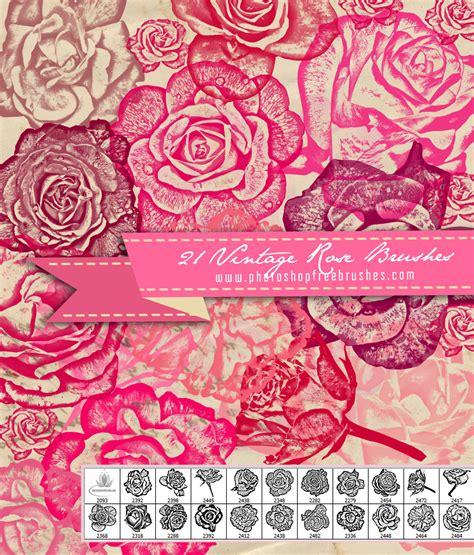 pattern photoshop rose vintage rose flower brushes photoshop free brushes