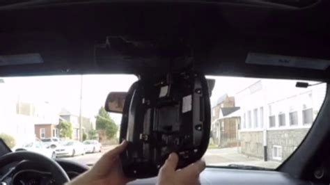 how do you replace the overhead console on how to remove map lights overhead console youtube