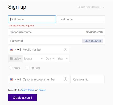 yahoo email sign up yahoo email log in yahoo password