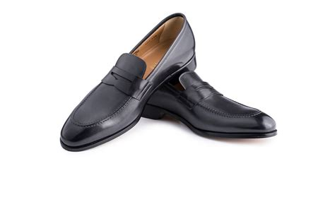black loafers shoes loafer shoes in black antique