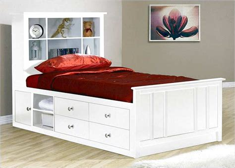 Twin bed frame with storage modern storage bed twin bed frame