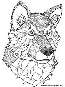 wolf mandala coloring pages print high quality wolf mandala coloring pages