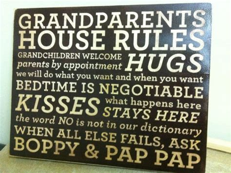 grandparents house rules grandparents and grandchildren together they create a chain of love