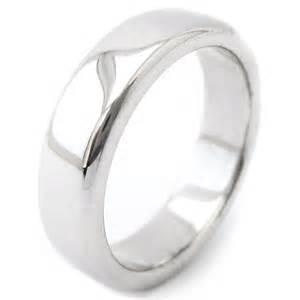 mens 14k white gold wedding bands 7mm 14k solid white gold s wedding band m126