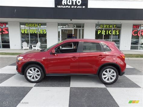 mitsubishi outlander sport 2014 red 2015 rally red mitsubishi outlander sport es 112893551