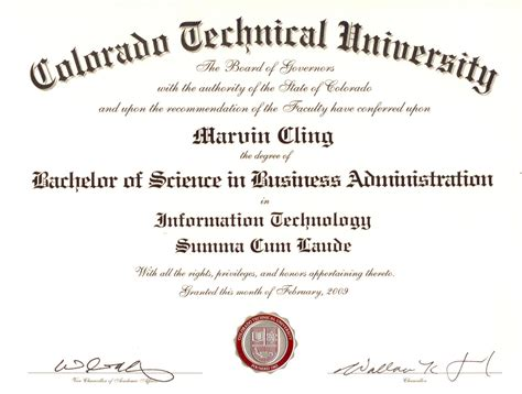 Information Of Mba Degree by Business Administration Degree Program Credits And Finances