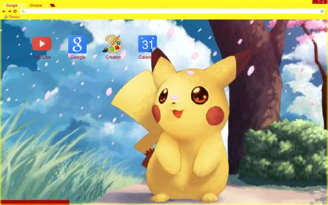 chrome theme pikachu pikachu chrome theme themebeta