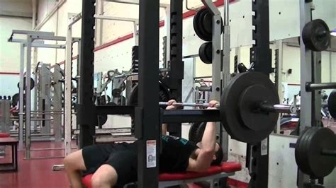 top half bench press youtube