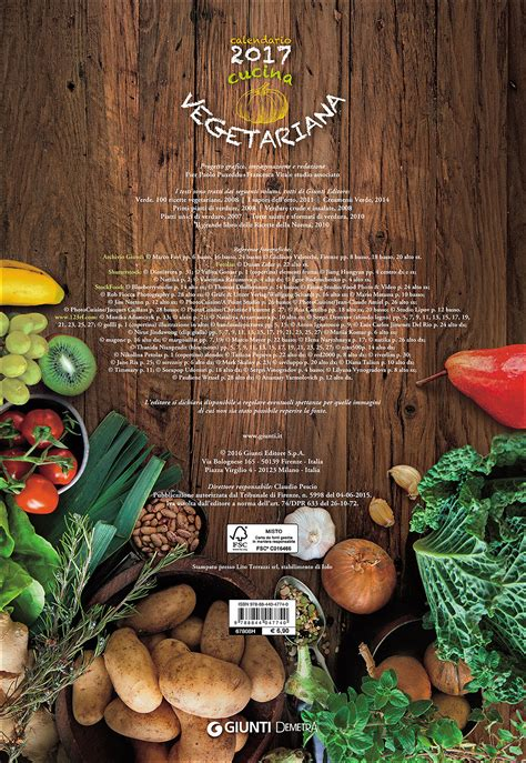 cucina vegetariana cucina vegetariana calendario 2017 giunti scuola store